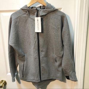 NWT Athleta Gray Zip Modern Life Hoodie Sweatshirt